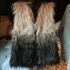 Fuzzy fashion vest C